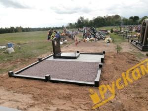 Установка гранитной ограды
