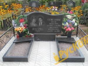 Двойной памятник + 2 цветника и тротуарная плитка