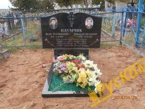 Двойной памятник + медальоны керамогранит